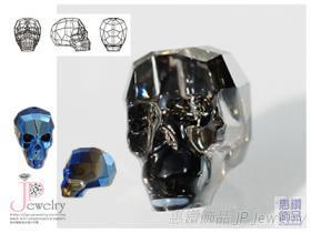 5750 採用施華洛世奇水晶元素 人造水晶 骷髏頭造型墜飾/串珠/縫石 手工藝 水晶玻璃材質 DIY材料 原廠包