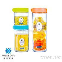 6件式玻璃積木保鮮罐組