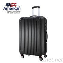 [American Traveler] ★★福利品★★ABS 超輕量菱紋抗刮行李箱25吋 (尊爵黑)