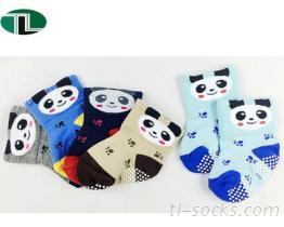 517-寬口貓熊頭防滑襪 襪子