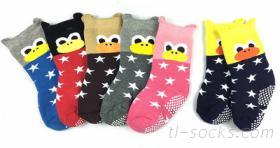 7706-3D大嘴鴨毛巾防滑襪