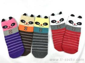 8803-3D熊貓兒防滑襪