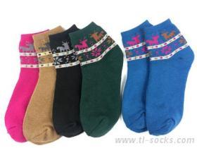 114-麋鹿全毛巾造型襪