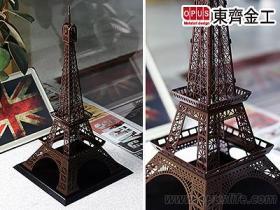 巴黎鐵塔擺飾, 咖啡棕 客製模型案例 歐洲學校