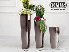 不锈钢艺术 猫眼花器 大型落地花瓶-黑色 橱窗布置
