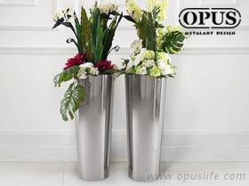 不锈钢艺术《圆锥花器》落地花瓶-镜面