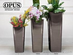不鏽鋼藝術, 圓角錐形花器, 大型落地花瓶-黑色大型藝術品