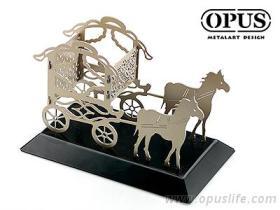 OPUS 東齊金工 馬車拼圖 金屬工藝 3D金屬拼圖