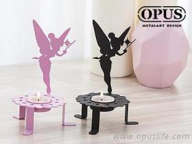 OPUS 歐式鐵藝-精靈之光 《花仙子燭台》經典黑 金屬燭台 氣氛燈 家飾 放鬆 香氛 臥房 禮品