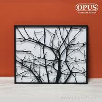 OPUS 東齊金工 金屬藝術掛畫-寒枝 無框畫經典名畫客廳掛畫居家擺飾