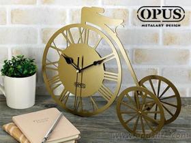 OPUS 歐式鐵藝 童年時光 三輪車桌鐘 座鐘 辦公 桌面擺飾