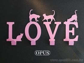 OPUS 东齐金工 LOVE 欧式铁艺 壁饰挂勾 猫咪挂勾 字母挂勾