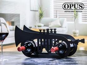 OPUS東齊金工 歐式鐵藝-小號酒架 父親節禮物樂器造型酒架酒托裝飾品