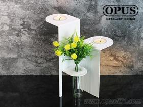 OPUS东齐金工 生命之树-烛座瓶插(黑) 烛台香氛蜡烛烛台 餐桌铁艺装饰品餐厅布置 CH-tr02