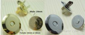磁性釦, 磁鐵扣, 磁扣