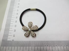 珍珠花朵髮束