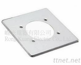 4P 30A 暗插座用白铁盖片