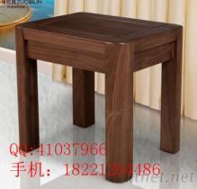 黑胡桃實木方凳餐廳客廳臥室家具
