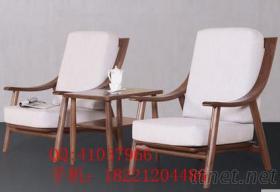 黑胡桃實木休閒桌椅套椅休閒家具