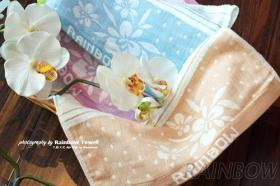 蘭花紗布提花毛巾