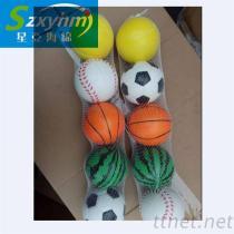 低密度PU玩具表情球, 捏壓高回彈PU玩具球