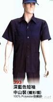 短袖中山裝(襯衫領)