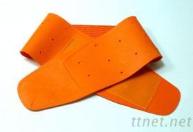 天然橡膠護腰-橘色