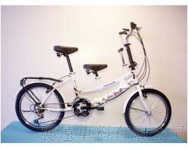 平价版 20吋 21速 SHIMANO 摺叠 亲子车