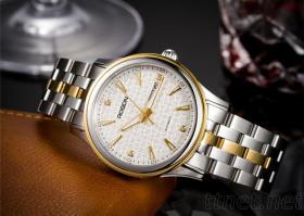 勞士頓全自動機械錶正品男士腕錶時裝防水手錶勞士頓全自動機械錶正品男士腕錶時裝防水手錶情侶商務男款金錶