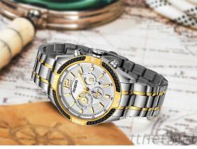 男士手表, 全自动机械表 防水精钢皮带男表