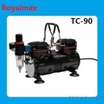 Royalamx手提攜帶型氣泵空氣壓縮機TC-90,美容,紋身,彩繪,噴塗,醫用,實驗工具