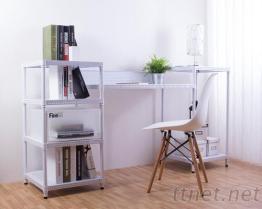 沖孔層架創意書桌