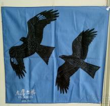 老鷹想飛100%棉印花彩色圍巾