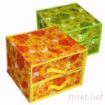 無紡布雙層可折疊收納盒, 收納箱