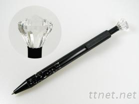 宝石造型按键水性原子笔