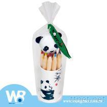 猫熊公仔12色短彩色铅笔削笔器组