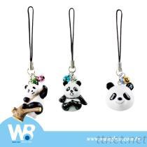 可愛熊貓公仔造型手機吊飾