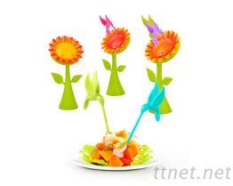 太陽花水果叉