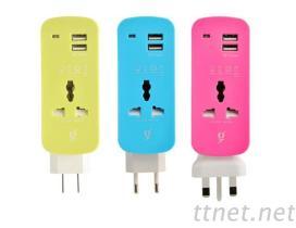 KNJ-USB2 双USB便利插座