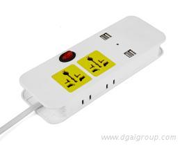 USB便攜式排插, USB帶線旅行插座, 禮品插座