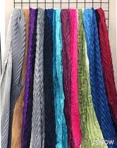 正韓 羊毛 百折漸層造型大圍巾