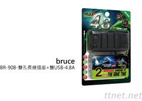 雙孔長線插座+雙USB-4.8A