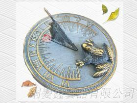 銅製園藝造景青蛙日規儀