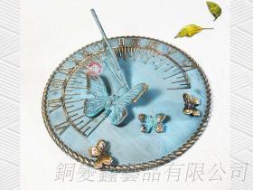 銅製園藝造景蝴蝶日規儀