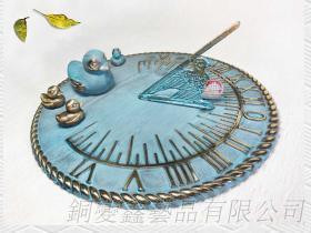 銅製園藝造景鴨鴨日規儀