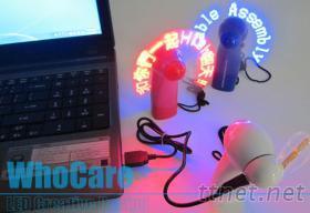 LED閃光風扇, LED時鐘風扇, 可編輯發光風扇