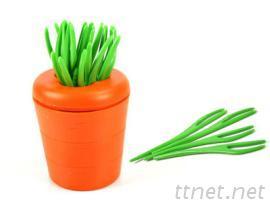 蘿蔔造型水果叉
