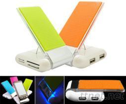 折疊手機座充電讀卡機HUB USB2.0