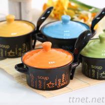 Soup雙耳迷你陶瓷碗