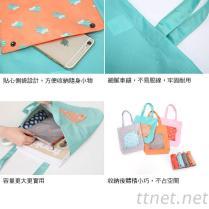 卡通防水折叠收纳手提袋